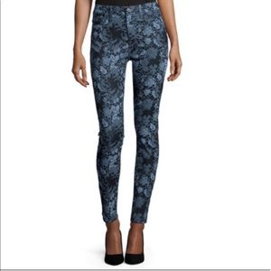 7 For all Mankind floral jacquard skinny jean